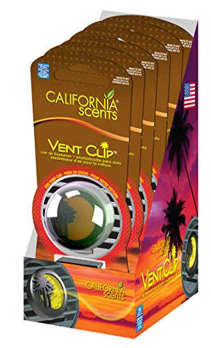 California Scents Vent Clip 6-Unit Tray, Capistrano Coconut (Pack of 6)