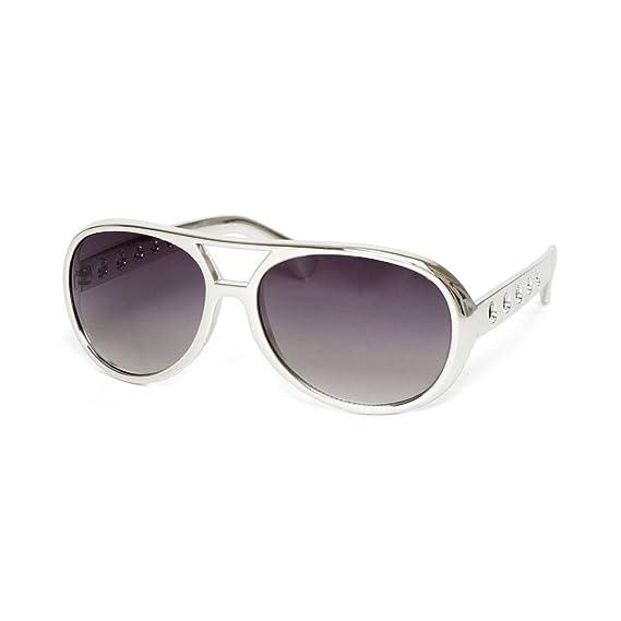 e9d476eae4 Elvis Kill Bill Sunglasses Silver Frame Smoke Lens 100 % UV Protection  Brand New  Amazon.co.uk  Clothing
