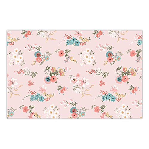 (DB Party Studio Paper Placemats Pack of 25 Pretty Floral Baby Bridal Shower Birthday Retirement Event Easy Cleanup Disposable Dining Place Mats Indoor Outdoor Table Setting 17