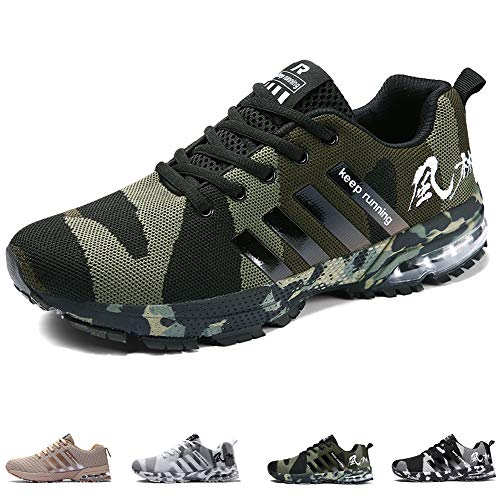 cheap for discount c16ce 5ff6d Unisex Sports Shoes Air Cushion Running Trainers Lace-up Sneakers  Breathable Walking Shoes (12