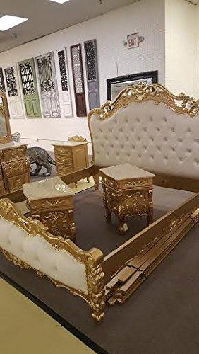 e6ebb013b2 Victorian Antique 5 Pc King Bedroom Set King BED Dresser Mirror 2 ...