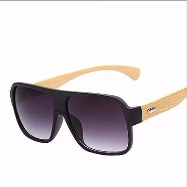 e8e2da79ff8 Flat Top Bamboo Sunglasses Men Vintage Style Brands Sunglasses Women ...