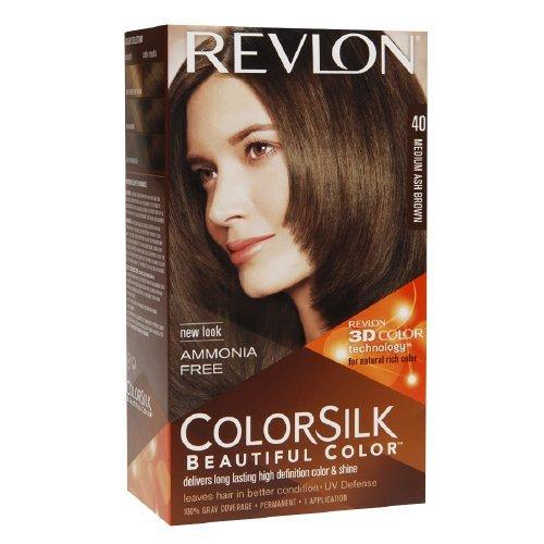 Revlon Colorsilk Beautiful Color, Medium Ash Brown 40 1 e...