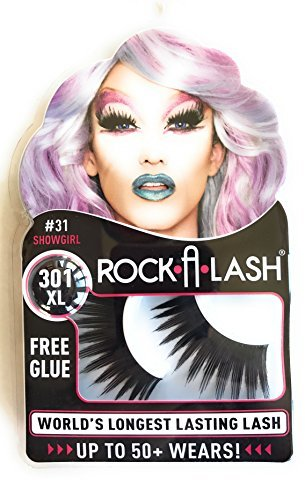 Rock-a-Lash Showgirl eyelashes with glue