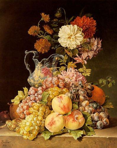 (Pauline Koudelka-Schmerling Stilleben Mit Obst Und Blumen (Still life with fr...)