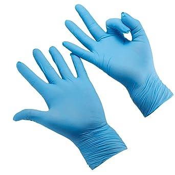 Guantes de nitrilo desechables para niños de 7 a 14 años, sin polvo, sin