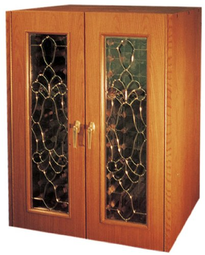 UPC 657433000482, Bonaparte 230-Model White Oak Wine Cabinet with Beveled Glass Doors by Vinotemp