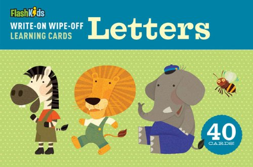 Write-On Wipe-Off Learning Cards: Letters