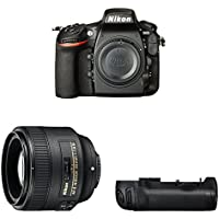 Nikon D810 FX-format Digital SLR Portrait Photography Lens Kit w/ Battery grip