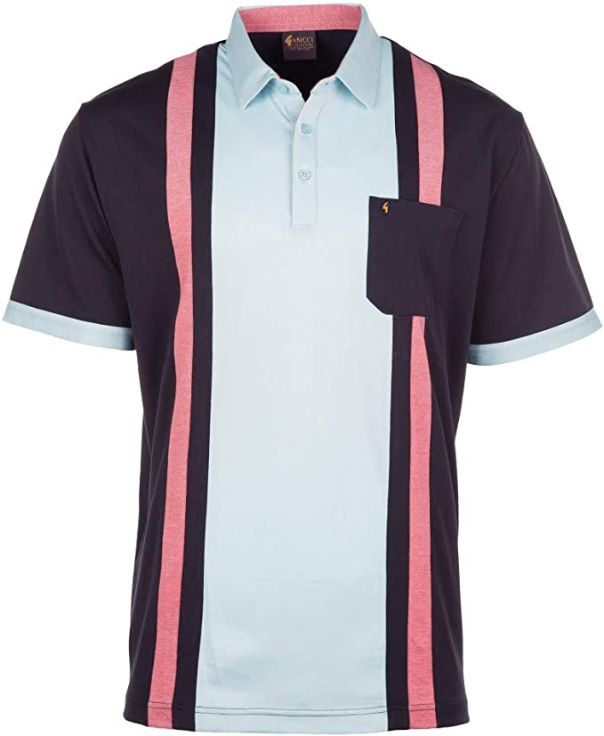 1950s Men's Clothing Gabicci SS19 Pocket Panel Polo Shirt - Oat £39.95 AT vintagedancer.com