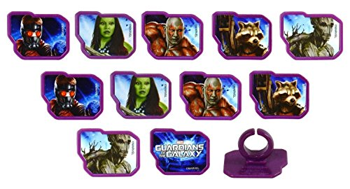 Price comparison product image Marvel Guardians of the Galaxy Rings,  12 Pk Cupcake Toppers,  6 Assorted Designs.