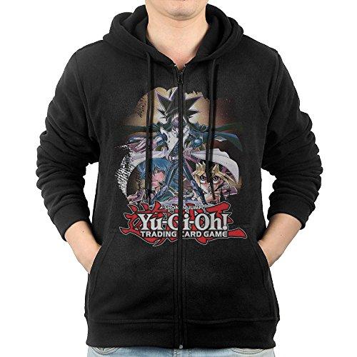 [MNB Men's Yu-Gi-Oh Zip-Up Sweatshirt Jackets Black Size XL] (Crazy One Direction Fan Costume)