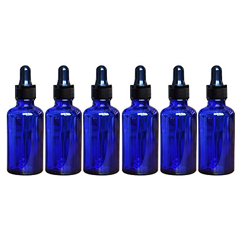 SHANHAI Glass Bottles with Glass Medicine Dropper Dispenser for Essential Oils, Tinctures, Lab Chemicals, 1 Ounce Capacity, 4