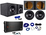 2) American Bass TNT-1544 2000w 15' Subwoofers+Vented Box+Mono Amplifier+Amp Kit