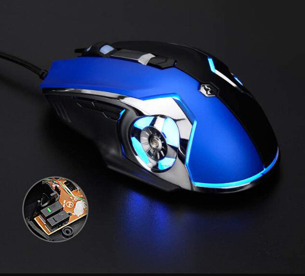 Etc. USB Gaming and Office Ergonomic Mouse Suitable for Laptops HHRONG Programmable Gaming Mouse Plug and Play Macs Windows Pcs