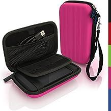 iGadgitz Pink EVA Hard Travel Case Cover for Western Digital My Passport Pro USB Portable External Hard Drive