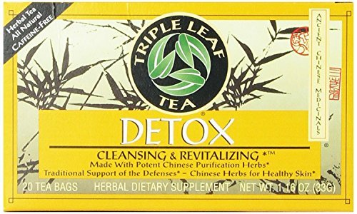 Triple Leaf Tea, Tea Bags, Detox, 1.16-Ounce Bags, 20-Count Boxes (Pack of 12)