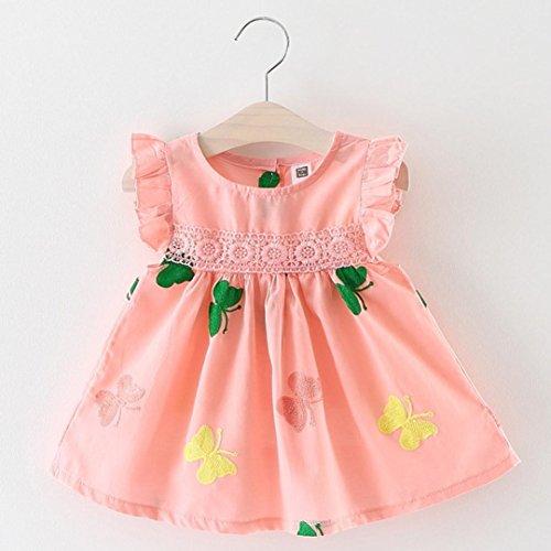 2ec1e1fe0 K-youth Vestido Bebé Niña Linda Vestido de princesa Niña Tutú Princesa Vestido  Niña Sin