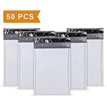 """UCGOU #0 6x10"""" Waterproof Envelopes White Dot Poly Bubble Mailers Pack of 50Pcs Padded Envelopes Boutique Custom Bags Shipping Envelopes Bags"""