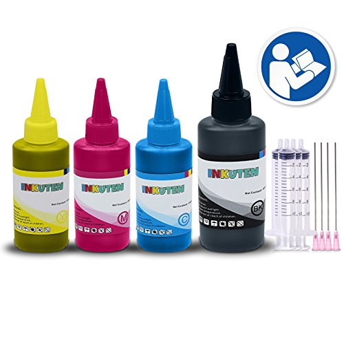 INKUTEN Ink Cartridge Refill Kit for Kodak 5 XL/XXL (150ml Black, 100ml per color, total 450ml) Made in the USA Compatible with Verite 55, 55 Eco, 55 Plus, 55 SE, 65 Eco, 65 Plus Printers