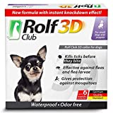 Rolf Club 3D FLEA Collar for Dogs - Flea and Tick Prevention for Dogs - Dog Flea and Tick Control for 6 Months - Safe Tick Repellent - Waterproof Tick Treatment