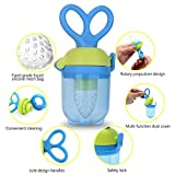 rice cereal feeder - Baby Teether Soother Unique Baby & Toddler Food Pacifier Feeder Vegatable Fresh Fruit Feeding (Blue,M)