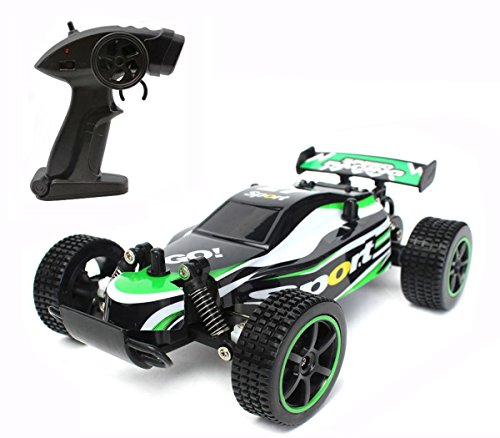 Off Road Remote Control Buggy - CR 2.4 GHz 1:20 Remote Control Racing Buggy Car Crazy Speed RC Off Road Truck with 4 Wheel Shock Absorbers Powerful Battery Aggressive Drifting/Stunts Car RTR (Green)