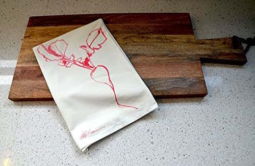 Amazon.com: Radish Flour Sack Tea Towel: Handmade