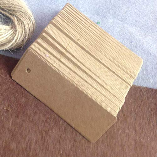 (OBELLA BOUTIQUE Rectangle Hang Tag 2.5x7cm Kraft Tag For Wedding Favour Tag 100pcs/lot Swing Tag Garment Tag Accept Custom Logo Cost Extra)