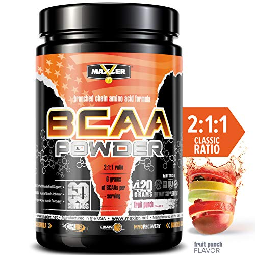 (BCAA Powder | Branched Chain Amino Acids | Intra & Post Workout Recovery Drink for Men & Women | Lean Muscle Growth, Accelerated Recovery & Energy, Reduce Fatigue (60 Servings) (Fruit Punch))
