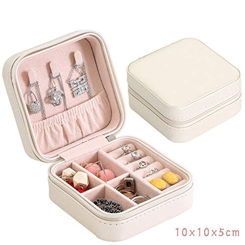 (yiping Portable Jewelry Box Drop Earring Earringearring Earrings Earring Ring Necklace Travel Small Pu Leather Jewelry Bag White Angel High-end Leather Portable 10 x 10 x 5.5cm)