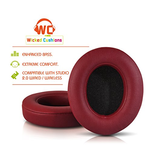Replacement Cushions Burgundy Compatible Headphones