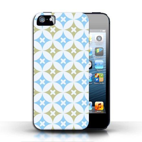 Etui / Coque pour Apple iPhone 5/5S / Bleu/marron conception / Collection de Kaléidoscope