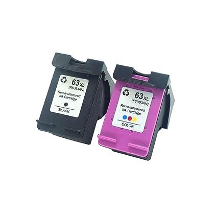 Komada 2pcs Compatible de repuesto para HP 63 cartuchos de ...