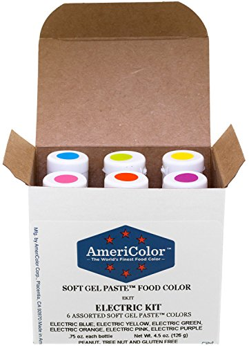 Food Coloring AmeriColor - Electric Kit - Soft Gel Paste, 6