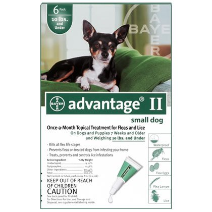 Advantage II 12pk Dog 1-10 lbs