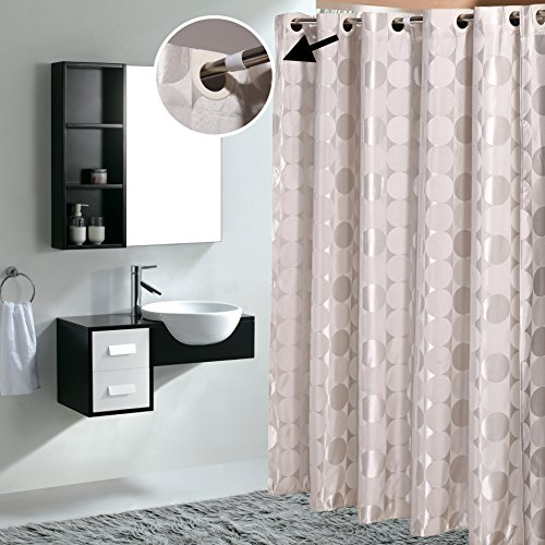 Mildew Proof Waterproof Polyester Fabric Macrocyclic Shower Curtain for Bathroom (72Inch*78Inch)