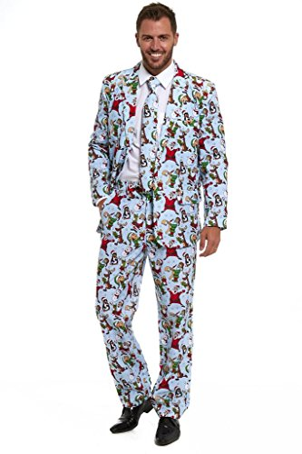 (New Stag Do Christmas Xmas 2018 Suit Fancy Dress Stand Out)
