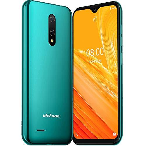 Unlocked Smartphones Ulefone Note 8(2020), Unlocked 3G Cell Phones 5.5'' 2GB+16GB, Android 10 5MP+2MP Camera, Dual Sim Phone, 2700mAh Battery, Face ID, GPS, WiFi, Bluetooth, No Sprint& Verizon (Green)