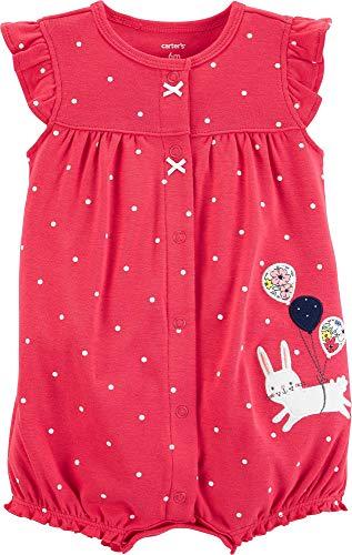 (Carter's Baby Girls' Ground Rainbow Snap Up Cotton Romper (12 Months, Balloon Bunny) )