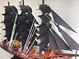 Excellent Handicrafts Ship Model Thai Style Handmade Pirates Pearl Battleship Warships Viking Sailing Military Royal Marine Navy Victory Wooden Craft Decorative Pirate Wood Black Gifts Nautical Decor