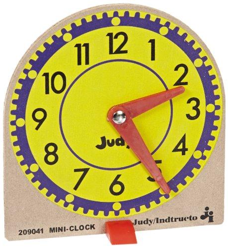 Mini Judy Clocks - Judy Instructo Mini-Clocks - 4 1/8 x 4 inches - Set of 12