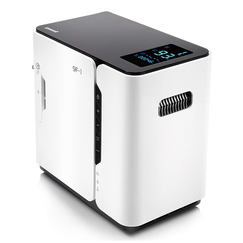Home Use Portable YUWELL 9F-1 Oxygen Bar Machines Oxygen_Concentrator_Machine for Home Car Travel 110V