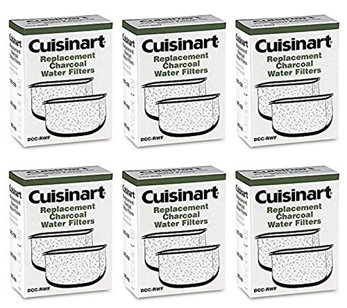 Cuisinart DCC-RWF-6PK (12 Filters) Charcoal Water Filters in Cuisinart DCC-RWF Retail Box (Cuisinart Coffee Maker Replacement Charcoal Water Filters)