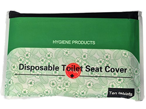 Toilet Seat Cover (Pack of 50 or Pack of 10) - Travel Essentials - Travel Size Disposable Toilet Seat Cover, Eco-friendly Bio-degradable Paper, Sanitary (1)