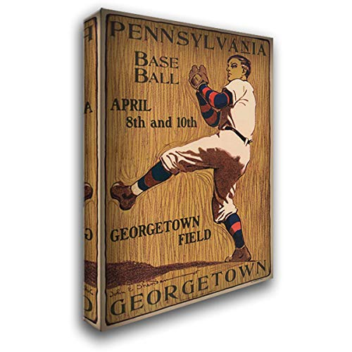 Pennsylvania Baseball - Georgetown Field 28x40 Gallery Wrapped Stretched Canvas Art by Vintage Sports