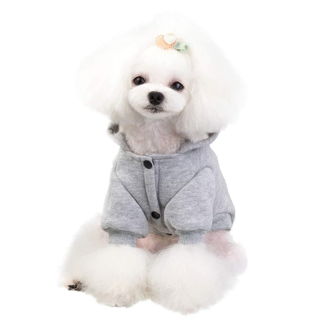 Cachorros y Perros peque/ños Perro Abrigo con Capucha para Mascotas para Mantener la Calidez del Gato para oto/ño e Invierno con Bolsillos Ropa para Gatos LEEDY