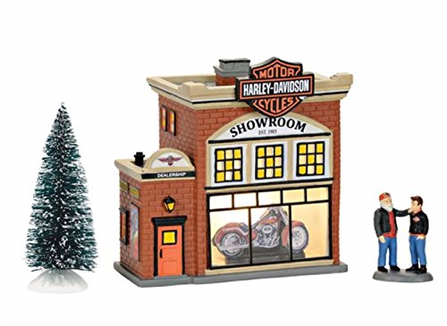 Department 56 Harley Davidson Village Showroom Lit Building Dept 56 Harley Davidson