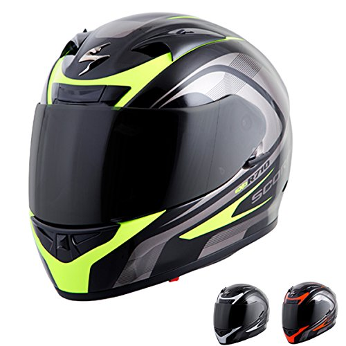 (Scorpion EXO-R710 Focus Street Motorcycle Helmet (Red, Medium))