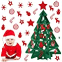 Outgeek 3D DIY Felt Christmas Tree Set with 26-Pieces Detachable Ornaments